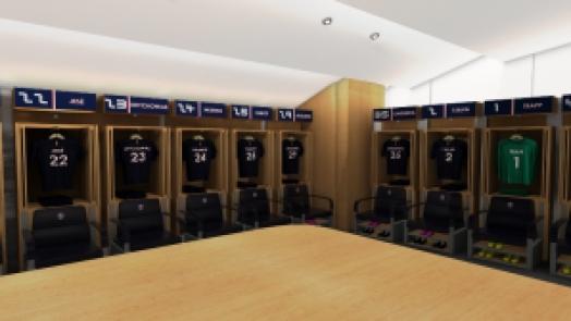 Suasana ruang ganti PSG, terasa asli. Sumber: juara.net