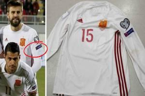 Ramos yang sudah menggunting lengan bajunya. Credit by Sindonews.com